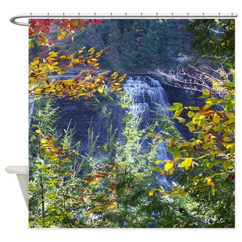 scenic curtains scenic water fall shower curtain by naturewildlifeartgifts