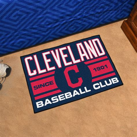 mlb cleveland indians mat small 20 x 30 in cleveland indians 20 x 30 starter floor mat buy