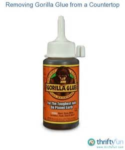 removing gorilla glue from a countertop thriftyfun