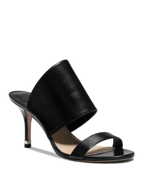 slide high heel sandals michael kors open toe slide sandals suzanne high heel in