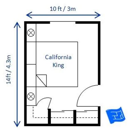 Minimum Room Size For King Bed by A Bedroom Size Of 10 X 14ft Would Fit A California King