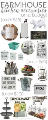 Best Kitchen Canisters by Farmhouse Kitchen Accessories On A Budget