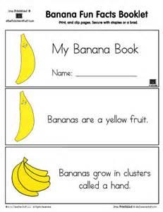 banana fun facts printable booklet a to z teacher stuff