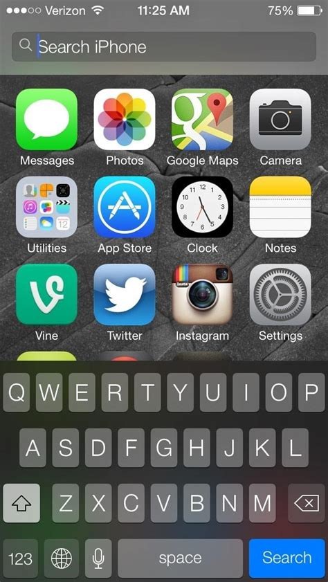 Spotlite Iphone 6 how to open spotlight search in ios 7 to find apps
