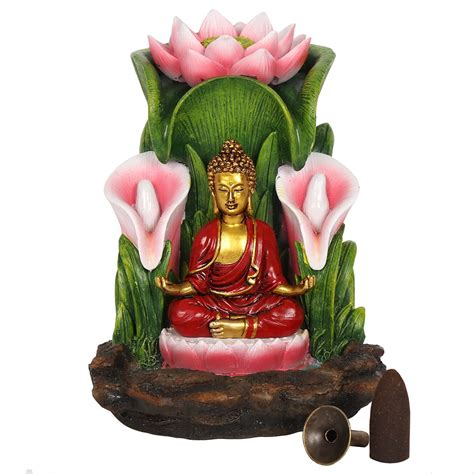 colorful buddha colourful buddha backflow incense burner