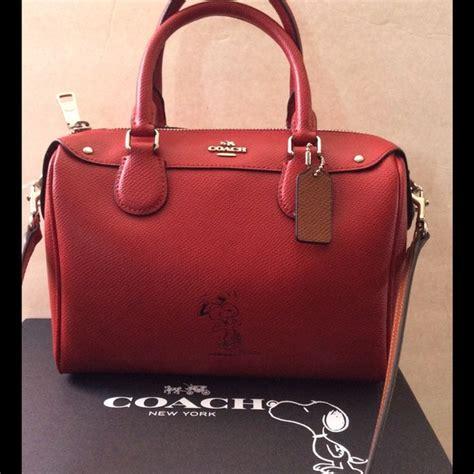 Coach Bennet Snoopy coach snoopy leather mini satchel nwt nwt