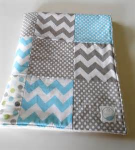 minky baby boy patchwork quilt blanket by
