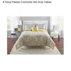 King Size Bedding Yellow New Paisley Grey Yellow King Size Comforter Set Bedding