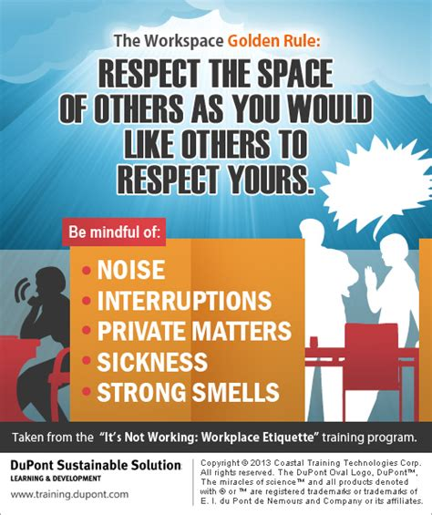 office etiquette office etiquette infographic from dupont