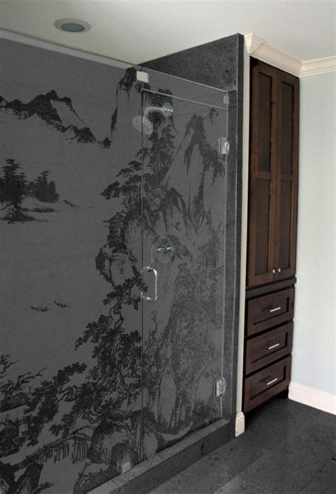 100 Best Images About Sandblasted Glass On Pinterest Sandblasted Glass Shower Doors