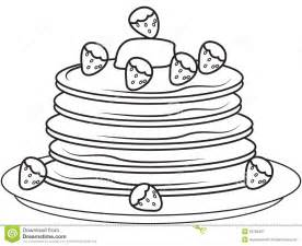 pancake coloring pages pancakes with strawberries coloring page stock