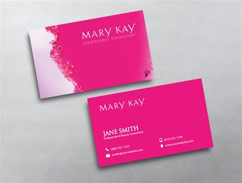 Mary Kay Business Card 06 How To Make A Business Card Template