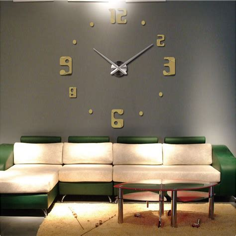 large wall pictures for living room 2016 new big wall clock living room quartz metal modern