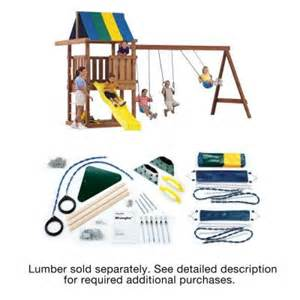 home depot swing set kit swing n slide playsets do it yourself wrangler custom