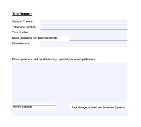 sle trip report template sle of business trip report 28 images order paper