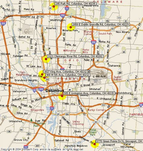 map of columbus columbus ohio map images