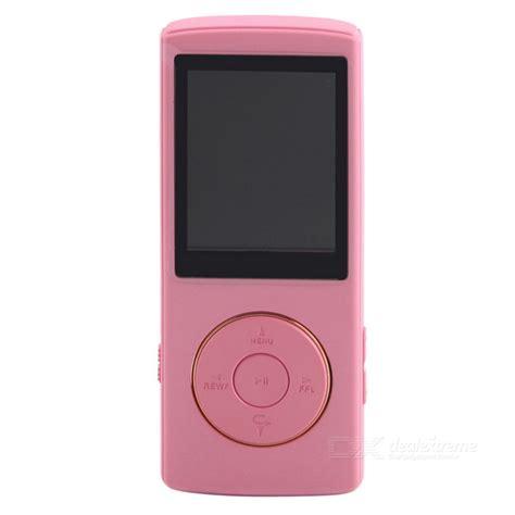 pink mp3 1 8 quot lcd music video digital mp3 mp4 player w fm radio