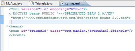 spring factory pattern xml exle spring tutorial