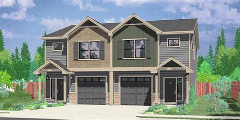 3 Bedroom House Floor Plans by Narrow Lot Duplex House Plans Narrow And Zero Lot Line