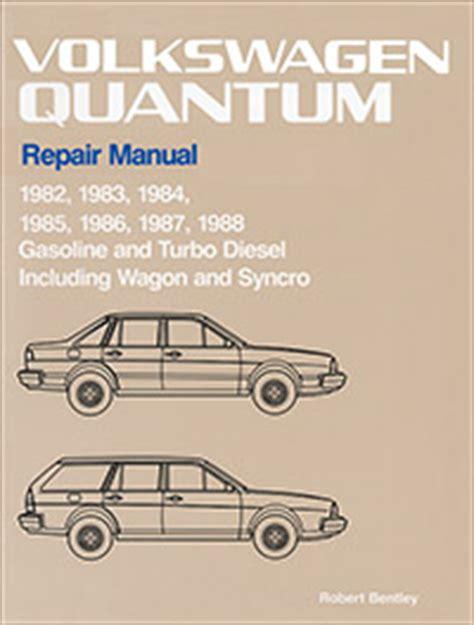 auto repair manual online 1988 volkswagen type 2 seat position control vw volkswagen repair manual quantum 1982 1988 bentley publishers repair manuals and
