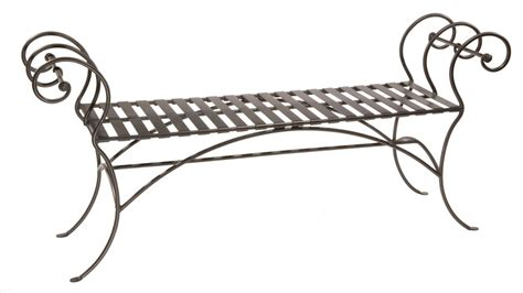 iron bed bench wrought iron bench ideas for every room