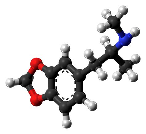 Mdma Also Search For File Mdma Molecule From Xtal Png Wikimedia Commons