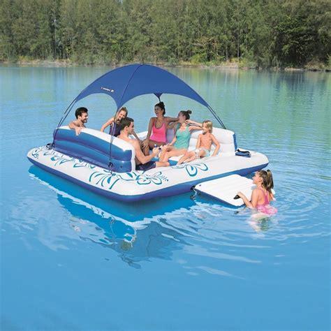 floating island inflatable pool raft lake water float