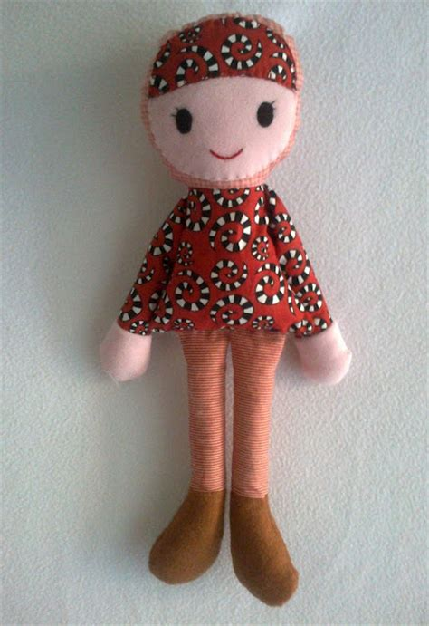 Boneka Patchwork Dolls Apple cheer up your let s make a simple rag doll
