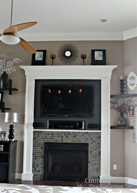 white  grey brick fireplaces contemporary design