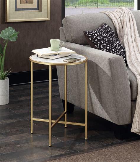 convenience concepts gold coast faux marble end table convenience concepts gold coast faux marble end table