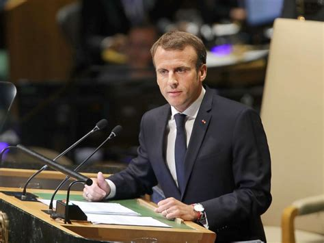 emmanuel macron united nations french president macron flatters trump but fails to