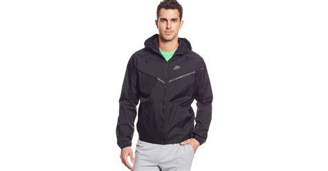 Jaket Nike Parasut Windrunner Black nike tech aeroshield windrunner jacket in black for lyst