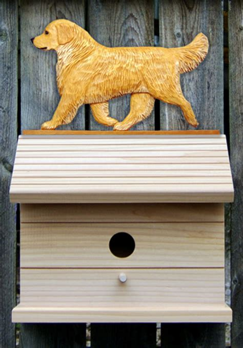 best house for golden retriever golden retriever painted bird house light