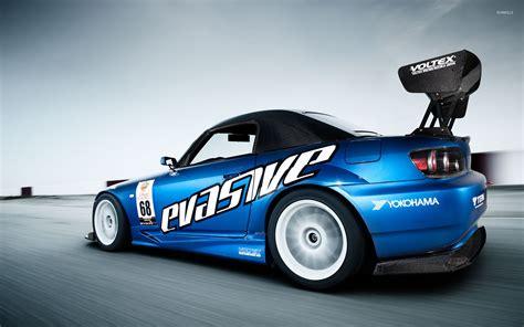 car track wallpaper blue voltex honda s2000 on the race track wallpaper car