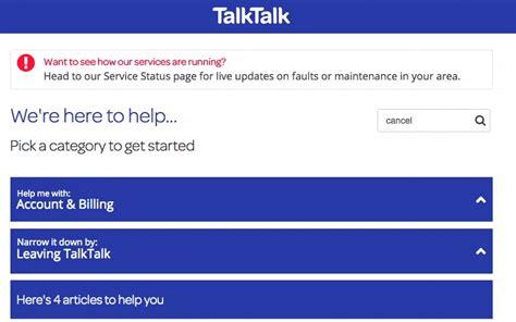 talktalk mobile account how to cancel talktalk uk contact numbers