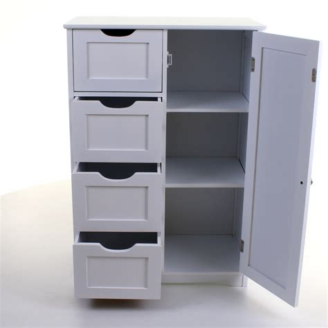 bathroom storage drawers 4 drawer cabinet bathroom storage unit chest cupboard white stylish modern draw