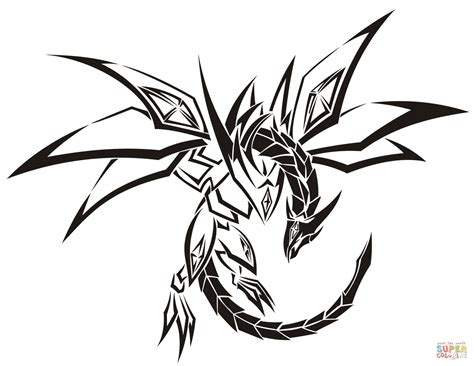 tribal dragon head tattoo tribal coloring page free printable