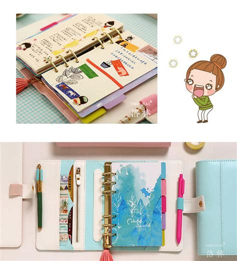 Agenda Notebook By Stationery macaron leather spiral notebook stationery person