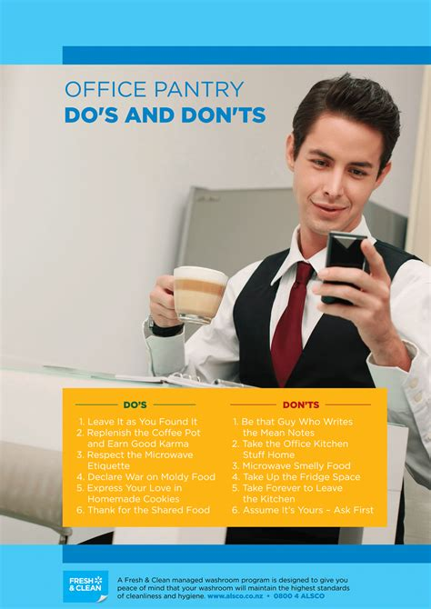 Office Pantry Etiquette by Workplace Hygiene Etiquette Posters Free Alsco