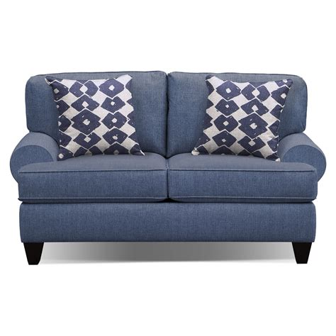 sofa and accent chair set bailey blue 91 quot quot sofa 67 quot quot sofa and accent chair set
