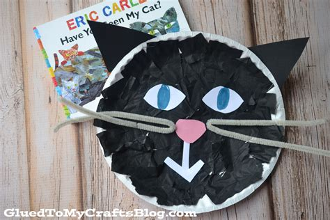 Black Cat Papercraft - tissue paper black cat kid craft