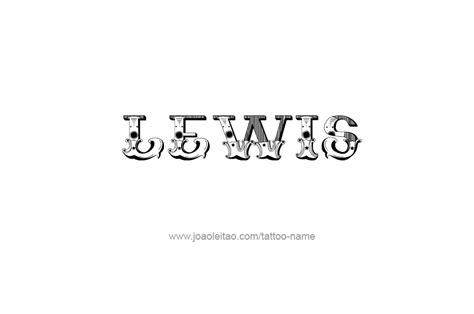 lewis name tattoo design design name lewis 29 png