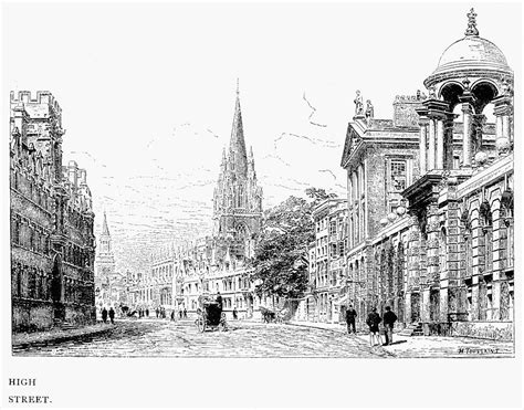art design oxford university oxford high street c1880 drawing by granger