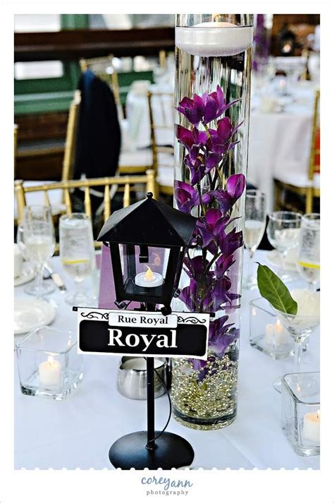 new orleans themed centerpiece at windows on the river reception by by corey photography