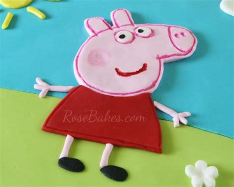 Peppa Pig Cake Template Free