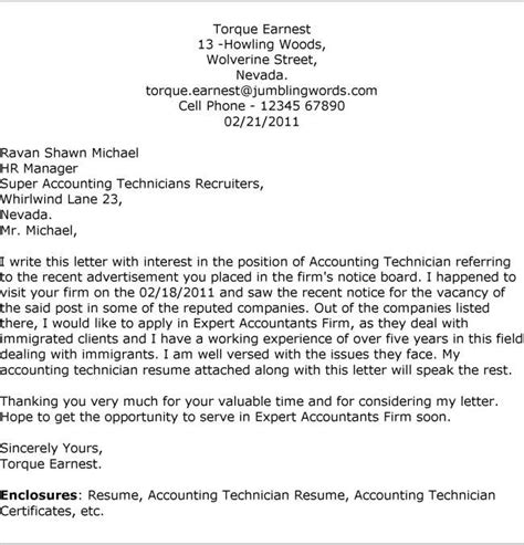 Cover Letter For Application Chartered Accountant Accounting Cover Letter Slim Image