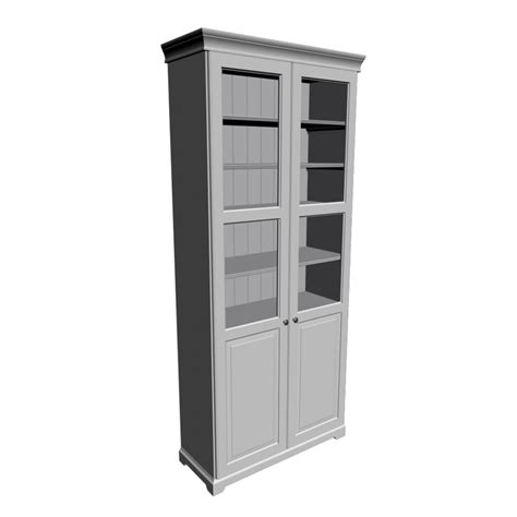 Liatorp Bookcase | liatorp bookcase white with panel glass door design and