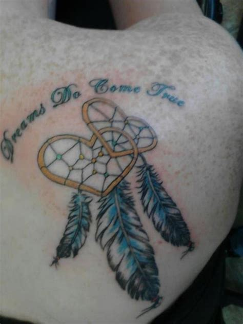 dreamcatcher tattoo with words for the romantic in me