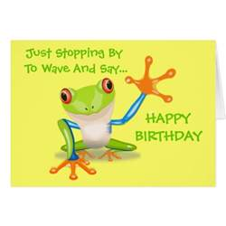 frog animal happy birthday card zazzle