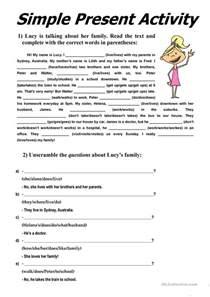 389 free esl simple present worksheets